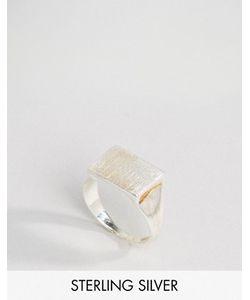 Pieces | Посеребренное Кольцо С Печаткой