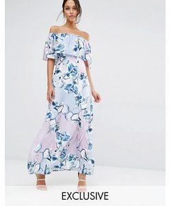 Every Cloud   Платье Макси С Открытыми Плечами И Цветочным Принтом