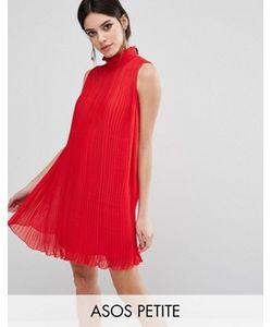 ASOS PETITE | Свободное Платье Без Рукавов С Высокой Горловиной И Складками