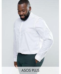 Asos | Рубашка Классического Кроя С Воротником На Пуговицах Plus