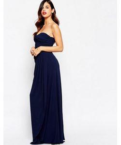 JARLO | Длинное Платье-Бандо С Драпировкой Claudia