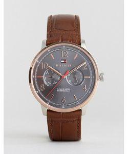 Tommy Hilfiger | Часы С Коричневым Кожаным Ремешком 1791357