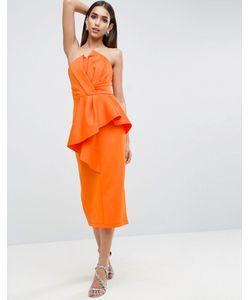Asos | Платье Миди С Отворотом Carpet