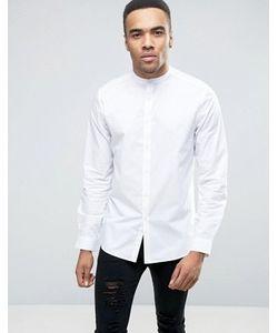 Asos | Белая Рубашка Классического Кроя С Воротом На Пуговице