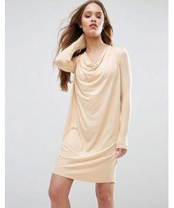 Ganni   Цельнокройное Платье Со Свободным Воротом