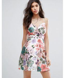 Tallulah | Короткое Приталенное Платье С Цветочным Принтом