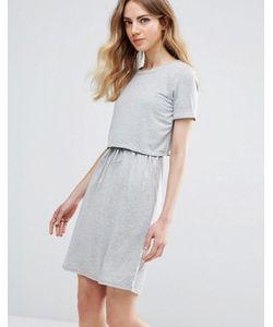 ICHI | Двухслойное Короткое Приталенное Платье