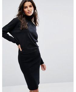 Selected | Трикотажное Платье С Высоким Воротом Femme