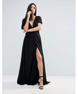 THE JETSET DIARIES | Платье Макси С Глубоким V-Образным Вырезом Lorenzo