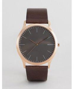Skagen | Часы С Черным Кожаным Ремешком Skw6330 Jorn 40 Мм