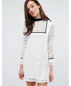 Fashion Union | Платье С Контрастной Отделкой По Краю