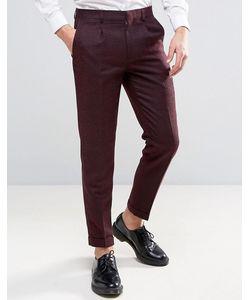Harry Brown   Slim Fit Burgundy Heritage Trousers