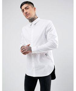 Religion | Длинная Рубашка Скинни С Контрастным Низом