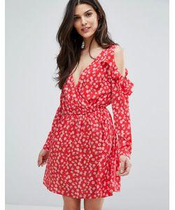 Influence | Платье С Открытыми Плечами Оборками И Запахом