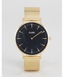 Cluse | Часы С Черным Циферблатом И Золотистым Сетчатым Ремешком La Boheme