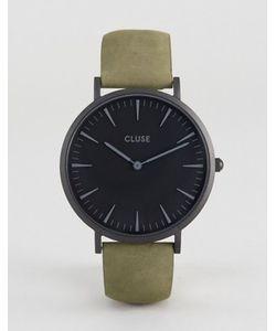 Cluse | Часы С Черным Циферблатом И Кожаным Ремешком Оливкового Цвета La