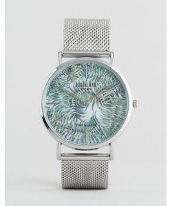 Reclaimed Vintage | Серебристые Часы С Тигровым Принтом