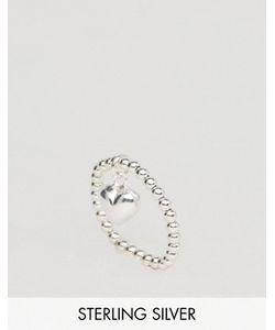 Asos | Серебряное Кольцо С Подвеской-Сердцем
