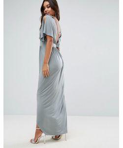Asos   Декорированное Платье Макси В Греческом Стиле С Перекрестами На Спине