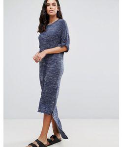 NYTT | Свободное Платье Макси С Асимметричным Подолом