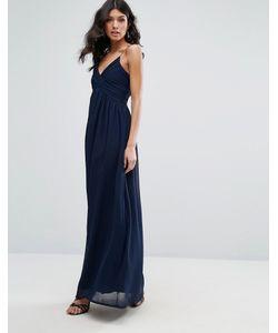 Club L | Шифоновое Платье Макси С V-Образным Вырезом И Плиссировкой