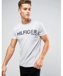 Hilfiger Denim | Меланжевая Футболка С Крупным Логотипом