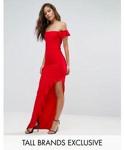 Missguided Tall | Платье Макси С Вырезом Лодочкой И Короткими Рукавами