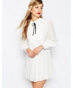 Asos | Свободное Платье Со Складками И Контрастной Завязкой