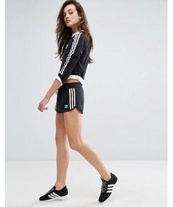 Adidas   Черные Шорты С Тремя Полосками Originals