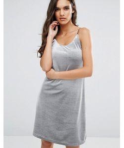 Vero Moda   Бархатное Платье В Рубчик