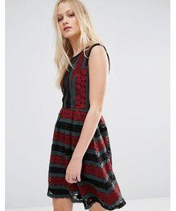 Hazel | Платье С Принтом И Сетчатыми Вставками