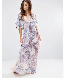 Foxiedox   Длинное Платье-Кимоно Tye