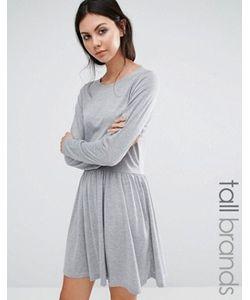 Brave Soul Tall   Короткое Приталенное Трикотажное Платье
