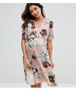 Bluebelle Maternity | Платье Для Кормления С Запахом И Цветочным Принтом Bluebelle