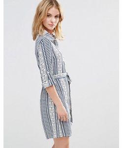 Style London | Платье-Рубашка С Геометрическим Принтом