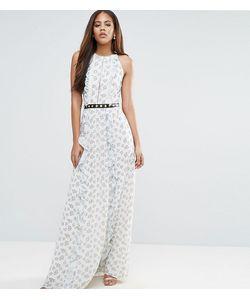 True Decadence Tall | Платье Макси С Цветочным Принтом И Металлической Отделкой