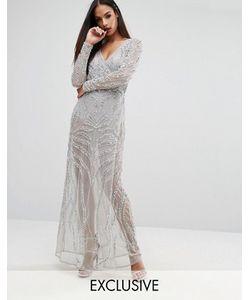 Starlet | Декорированное Платье Макси С Запахом