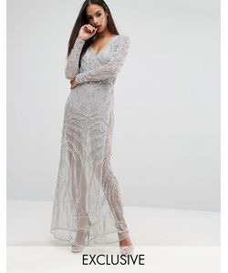 Starlet   Декорированное Платье Макси С Запахом