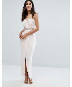 TFNC | Платье Макси С Отделкой На Талии