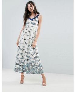 Uttam Boutique | Платье Макси С Принтом Стрекоз