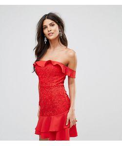 JARLO | Платье Мини С Открытыми Плечами И Ярусной Оборкой