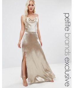 Jarlo Petite | Платье Макси На Бретельках С Высоким Разрезом