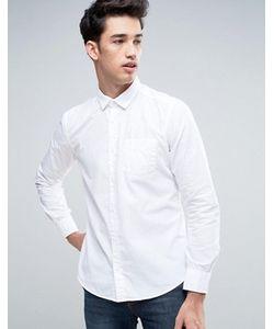 Esprit | Белая Рубашка Слим На Пуговицах