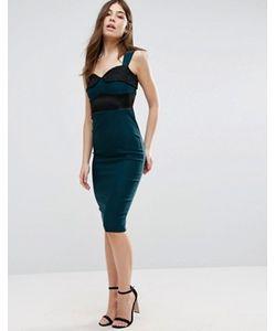 Vesper | Платье-Футляр С Кружевной Вставкой