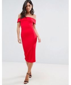 Oh My Love | Платье Миди С Открытыми Плечами