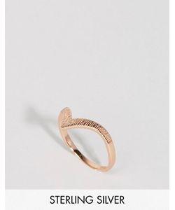 Lavish Alice | Покрытое Розовым Золотом Серебряное Кольцо С Гравировкой