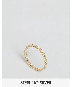 Asos | Позолоченное Серебряное Плетеное Кольцо