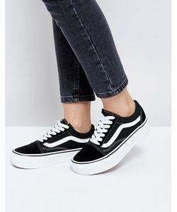 Vans | Черные Кроссовки На Платформе Old Skool