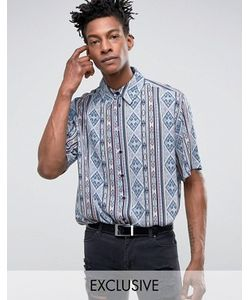 Reclaimed Vintage | Inspired Shirt In With Aztec Print In Reg