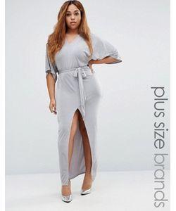 Missguided Plus | Платье Макси С Рукавами В Стиле Кимоно И Поясом